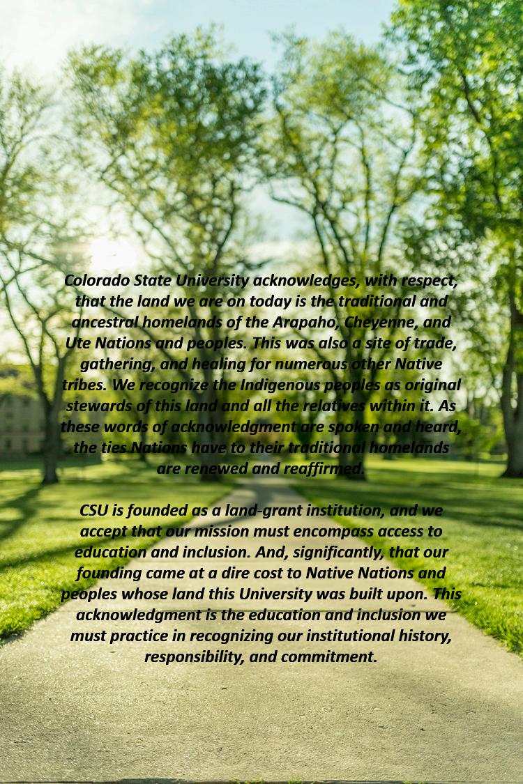 CSU Land Acknowledgement